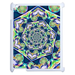 Power Spiral Polygon Blue Green White Apple Ipad 2 Case (white) by EDDArt
