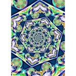 Power Spiral Polygon Blue Green White Heart Bottom 3D Greeting Card (7x5) Inside