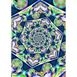 Power Spiral Polygon Blue Green White Peace Sign 3D Greeting Card (7x5) Inside
