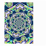 Power Spiral Polygon Blue Green White Small Garden Flag (Two Sides) Front