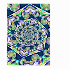 Power Spiral Polygon Blue Green White Large Garden Flag (two Sides) by EDDArt
