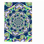 Power Spiral Polygon Blue Green White Large Garden Flag (Two Sides) Back