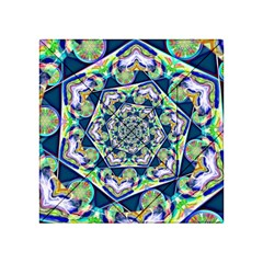 Power Spiral Polygon Blue Green White Acrylic Tangram Puzzle (4  X 4 )