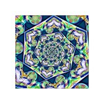 Power Spiral Polygon Blue Green White Acrylic Tangram Puzzle (4  x 4 ) Front