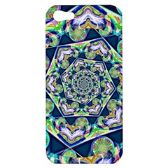 Power Spiral Polygon Blue Green White Apple Iphone 5 Hardshell Case
