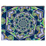 Power Spiral Polygon Blue Green White Cosmetic Bag (XXXL)  Front