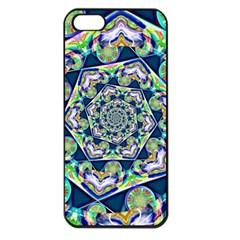 Power Spiral Polygon Blue Green White Apple Iphone 5 Seamless Case (black) by EDDArt