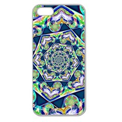 Power Spiral Polygon Blue Green White Apple Seamless Iphone 5 Case (clear) by EDDArt