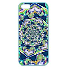 Power Spiral Polygon Blue Green White Apple Seamless Iphone 5 Case (color) by EDDArt