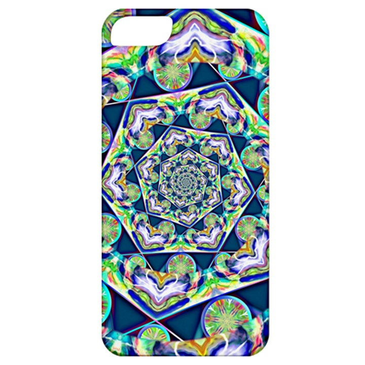 Power Spiral Polygon Blue Green White Apple iPhone 5 Classic Hardshell Case