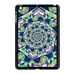 Power Spiral Polygon Blue Green White Apple Ipad Mini Case (black) by EDDArt