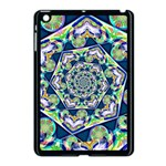 Power Spiral Polygon Blue Green White Apple iPad Mini Case (Black) Front