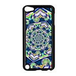 Power Spiral Polygon Blue Green White Apple iPod Touch 5 Case (Black) Front