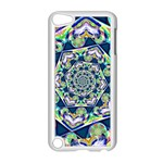 Power Spiral Polygon Blue Green White Apple iPod Touch 5 Case (White) Front
