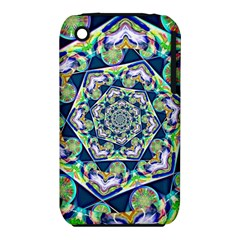 Power Spiral Polygon Blue Green White Apple Iphone 3g/3gs Hardshell Case (pc+silicone) by EDDArt