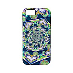 Power Spiral Polygon Blue Green White Apple Iphone 5 Classic Hardshell Case (pc+silicone) by EDDArt