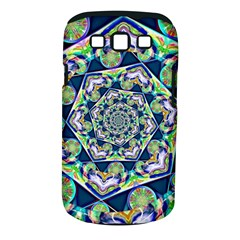 Power Spiral Polygon Blue Green White Samsung Galaxy S Iii Classic Hardshell Case (pc+silicone) by EDDArt