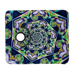 Power Spiral Polygon Blue Green White Samsung Galaxy S  Iii Flip 360 Case by EDDArt