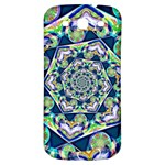 Power Spiral Polygon Blue Green White Samsung Galaxy S3 S III Classic Hardshell Back Case Front
