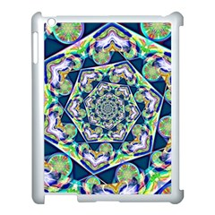 Power Spiral Polygon Blue Green White Apple Ipad 3/4 Case (white) by EDDArt