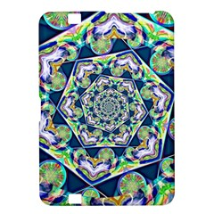 Power Spiral Polygon Blue Green White Kindle Fire Hd 8 9  by EDDArt