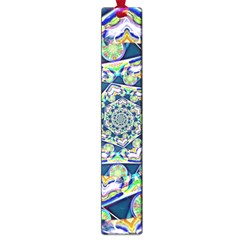 Power Spiral Polygon Blue Green White Large Book Marks by EDDArt