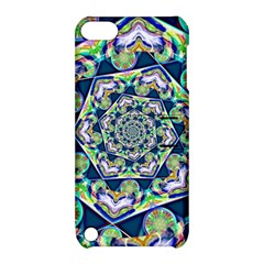 Power Spiral Polygon Blue Green White Apple Ipod Touch 5 Hardshell Case With Stand by EDDArt