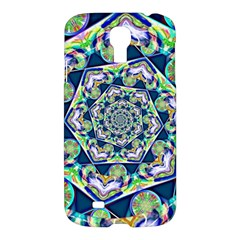 Power Spiral Polygon Blue Green White Samsung Galaxy S4 I9500/i9505 Hardshell Case