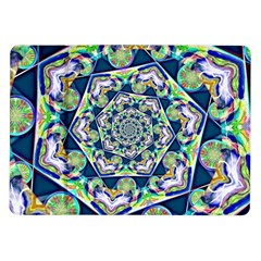 Power Spiral Polygon Blue Green White Samsung Galaxy Tab 10 1  P7500 Flip Case