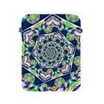 Power Spiral Polygon Blue Green White Apple iPad 2/3/4 Protective Soft Cases Front