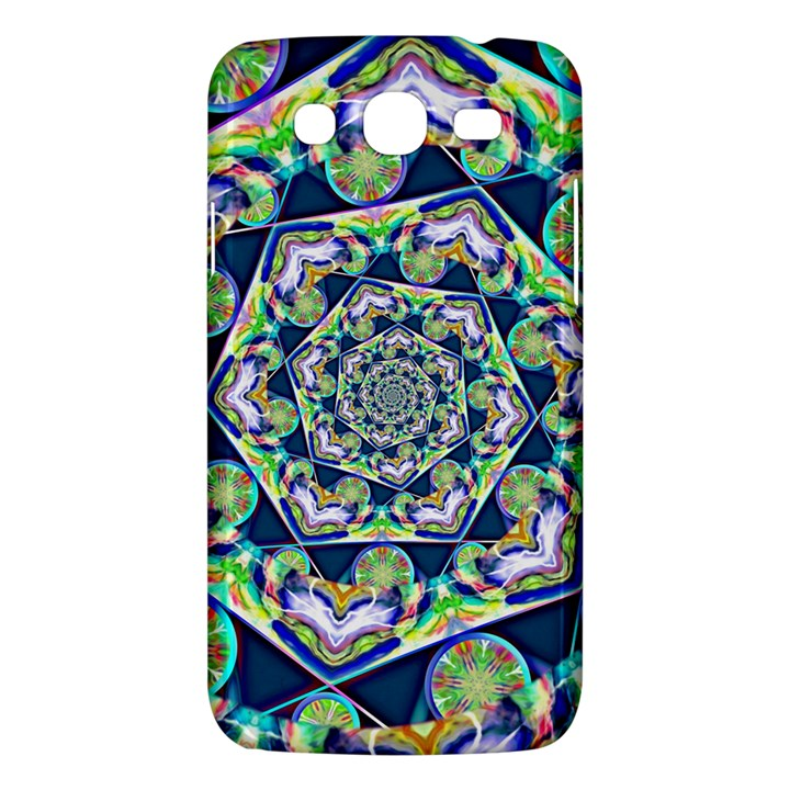 Power Spiral Polygon Blue Green White Samsung Galaxy Mega 5.8 I9152 Hardshell Case
