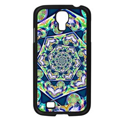 Power Spiral Polygon Blue Green White Samsung Galaxy S4 I9500/ I9505 Case (black)