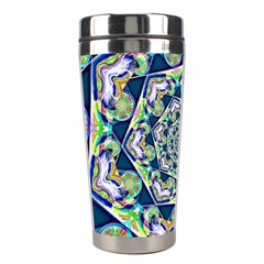 Power Spiral Polygon Blue Green White Stainless Steel Travel Tumblers