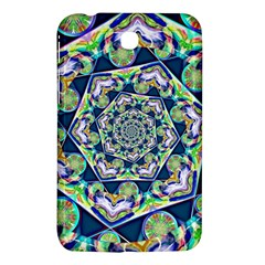 Power Spiral Polygon Blue Green White Samsung Galaxy Tab 3 (7 ) P3200 Hardshell Case  by EDDArt