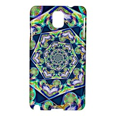 Power Spiral Polygon Blue Green White Samsung Galaxy Note 3 N9005 Hardshell Case