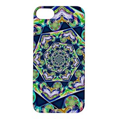 Power Spiral Polygon Blue Green White Apple Iphone 5s/ Se Hardshell Case by EDDArt