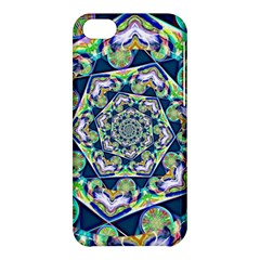 Power Spiral Polygon Blue Green White Apple Iphone 5c Hardshell Case by EDDArt