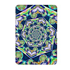 Power Spiral Polygon Blue Green White Samsung Galaxy Tab 2 (10 1 ) P5100 Hardshell Case  by EDDArt