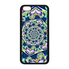 Power Spiral Polygon Blue Green White Apple Iphone 5c Seamless Case (black) by EDDArt