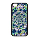 Power Spiral Polygon Blue Green White Apple iPhone 5C Seamless Case (Black) Front