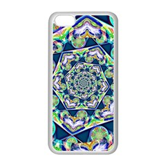 Power Spiral Polygon Blue Green White Apple Iphone 5c Seamless Case (white)