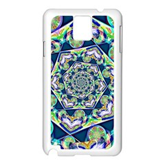 Power Spiral Polygon Blue Green White Samsung Galaxy Note 3 N9005 Case (white)