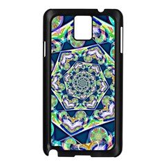 Power Spiral Polygon Blue Green White Samsung Galaxy Note 3 N9005 Case (black)