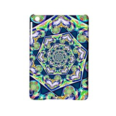 Power Spiral Polygon Blue Green White Ipad Mini 2 Hardshell Cases by EDDArt