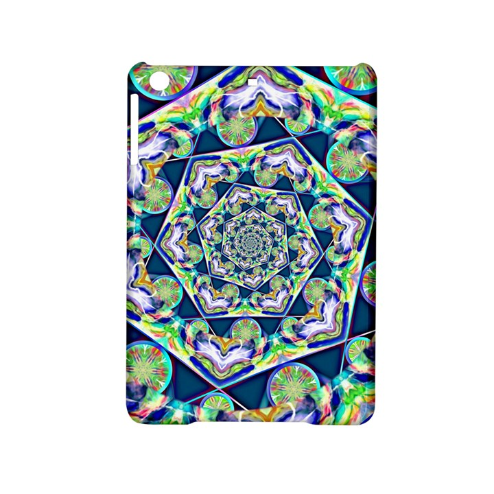 Power Spiral Polygon Blue Green White iPad Mini 2 Hardshell Cases