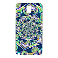 Power Spiral Polygon Blue Green White Samsung Galaxy Note 3 N9005 Hardshell Back Case by EDDArt