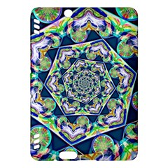 Power Spiral Polygon Blue Green White Kindle Fire Hdx Hardshell Case by EDDArt