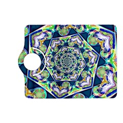 Power Spiral Polygon Blue Green White Kindle Fire Hd (2013) Flip 360 Case by EDDArt