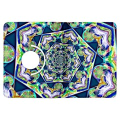 Power Spiral Polygon Blue Green White Kindle Fire Hdx Flip 360 Case by EDDArt