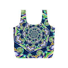 Power Spiral Polygon Blue Green White Full Print Recycle Bags (s)  by EDDArt